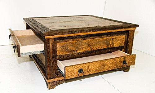 Farmhouse rustic coffee table (Square Table Alder)