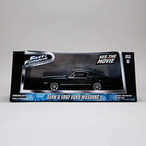 1967 Sean's Ford Mustang Fastback, Green - Greenlight Fast & Furious 86211 - 1/43 Scale Diecast Model Toy Car