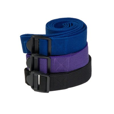 Yoga Direct 8-Feet Yoga Strap with Clip Style Buckle, Black