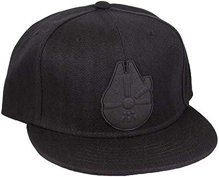 Star Wars Millennium Falcon Logotipo de la gorra de béisbol del casquillo del Snapback negro