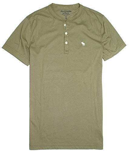 - Abercrombie & Fitch Men's Short Sleeve Henley T-Shirt X (Small, 0444-330)