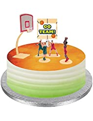 Themed Mini Cake / Food / Cupcake / Appetizer /Desert Miniature Toys Decorating Topper Decorations (Basketball)