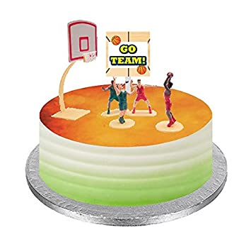 Basketball Cake Decorations Ice Cream Cup Cakes