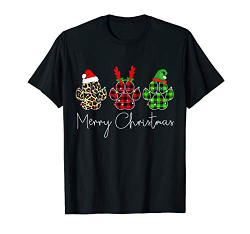 Paw dogs merry christmas - christmas dog lovers T-Shirt