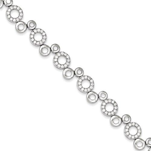 Icecarats Créatrice De Bijoux En Argent Sterling Cz Bracelet En 7,5 Pouces