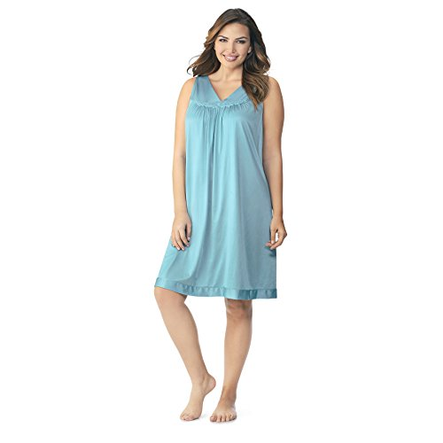 Exquisite Form Women's Coloratura Short Gown 30107, Island Teal Small (Nightie Nylon)