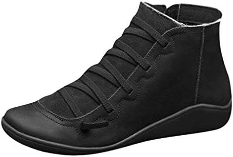 liqiuxiang クリスマス ブーツ デザートブーツ チャッカーブーツ レトロ ワークブーツ レディース 編み上げ ジップアップ 厚底靴 ショートブーツ ブラウン ローヒール 通勤 アウトドア