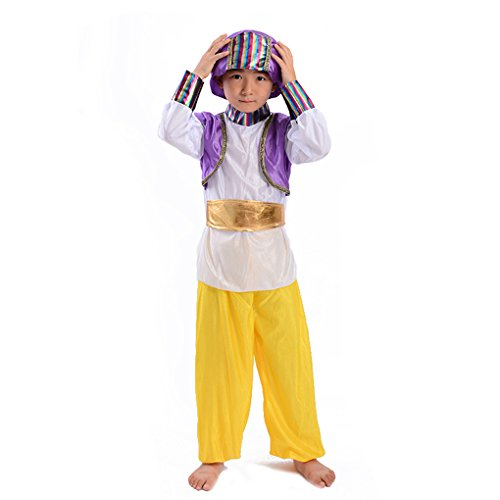 Children's Novelties Arabian Prince Costume Aladdin Fairy tale Fancy Dress (S)