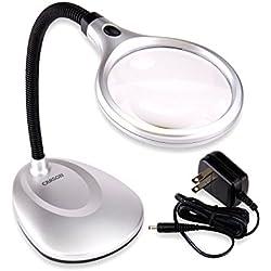 Carson DeskBrite 200 LED Illuminated 2X Magnifier & Desk Lamp (LM-20)