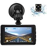 Dash Cam, Ruidon 1080P HD Dual Channel Dashboard Cameras Front and Rear, Driving Video Recorder with Night Vision, 170 Super Wide Angle, G Sensor, Parking Monitor, Motion Detection, WDR