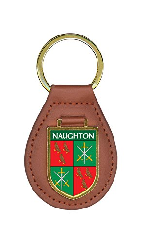 Naughton Family Crest Coat of Arms Key Chains