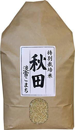 特別栽培米 秋田県産 淡雪こまち 令和1年産 10kg (白米精米後4.5kg×2袋)