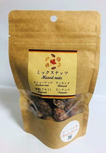 メープル味 ミックスナッツ 70g【ナッツ工房メープル】
