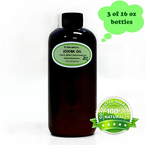 Jojoba Oil Golden Organic 100% Pure 48 Oz/ 3 Pints