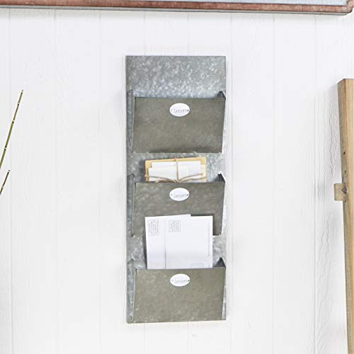 Cheung's FP-3732 Galvanized Metal Mail Wall Storage