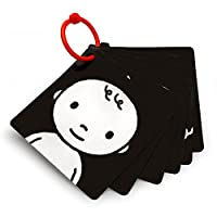 Black, White & Red Infant-Stim Clip Along High Contrast Flash Cards for Baby