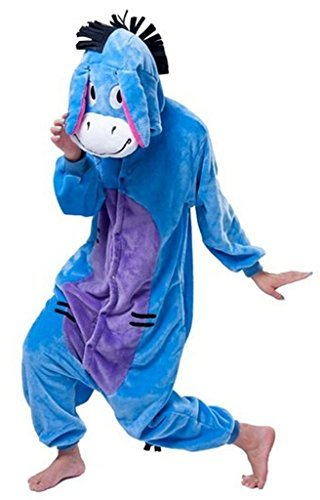 Baoji-Unisex-Adult-Kids-Sulley-Onesie-Kigurumi-Pajamas-Cosplay-Costume-Animal