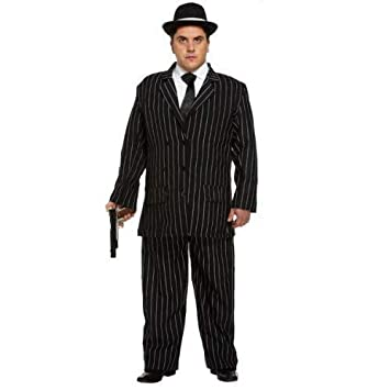 93c8047514f Adult Mens 1920s Gangster Bugsy Malone Great Gatsby Pinstriped Suit Fancy  Dress Costume Outfit STD