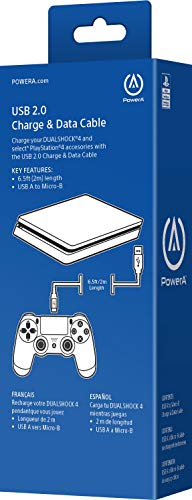 PowerA USB Charging Cable for PlayStation 4 2