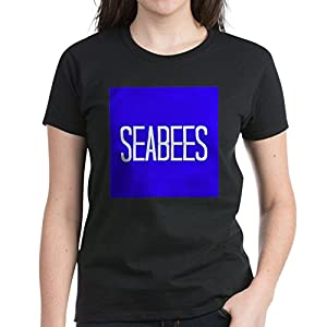 CafePress - Seabees T-Shirt - Womens Cotton T-Shirt by CafePress