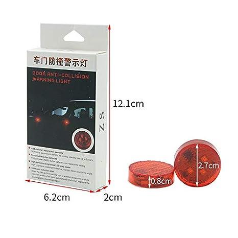 Redcolourful 2pcs Universal General Car Door 3 LED Opening Warning Lamp Safely Flash Light Blue