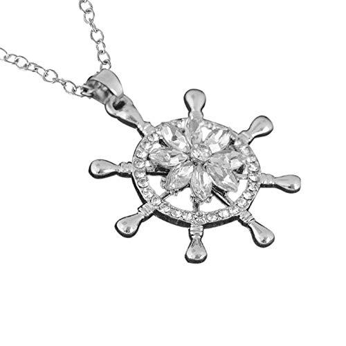 nanzhushangmao 925 Sterling Silver 3D Blooming Flower Love Heart Shape Earrings, Necklace, Jewelry Set Hypoallergenic Gift for Mom Girlfriend Women Girls]()