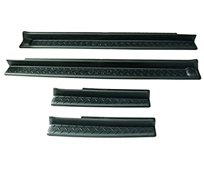 DIYTuning Black Entry Guard Kit for 07-17 Jeep JK Wrangler