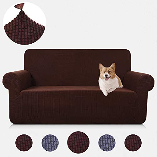 TASTELIFE Sofa Couch Cover Loveseat Slipcover 1-Piece Stretch Jacquard Armchair Shield 2 Seat Furniture Protector Chair for Living Room Coffee Love Seat Size