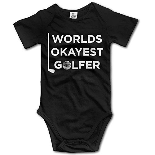 Unisex Baby's Climbing Clothes Set World's Okayest Golfer Bodysuits Romper Short Sleeved Light Onesies for 0-24 Months ()