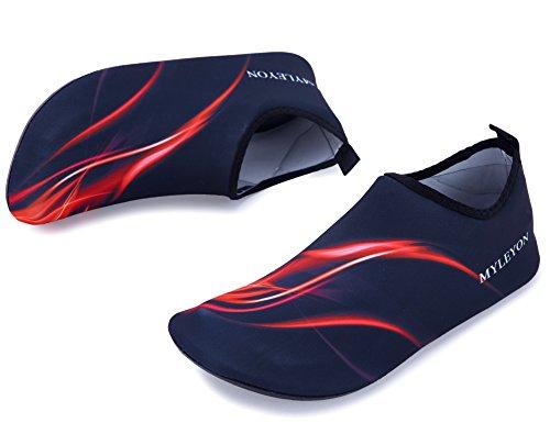 Giotto Barefoot Water Schoenen Yoga Strand Zwemmen Aqua Schoenen Voor Vrouwen Mannen E-rood