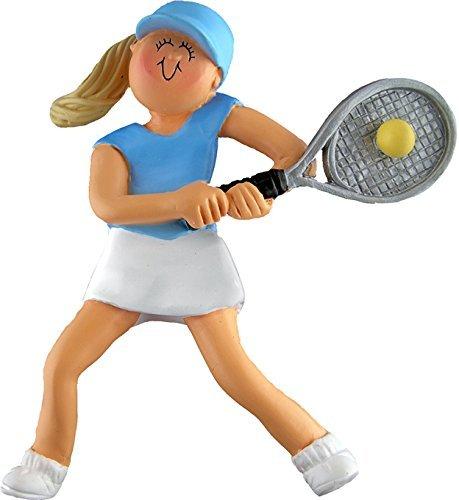 Ornament Central OC-073-FBL Female Blonde Tennis Figurine (Figurine Tennis Player)
