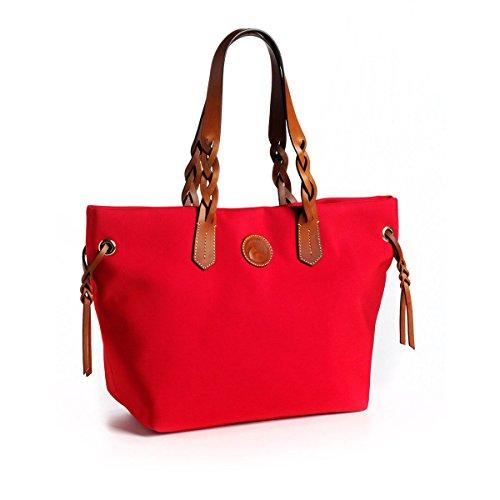 dooney-bourke-nylon-shopper-red