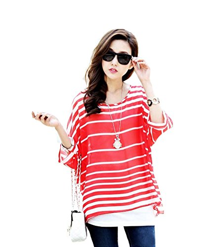 shirt 3 40 4 Off Shoulder Sleeve Donna PIN Blouse Bohemian T Boho LATH Chiffon Tgq1AwqP
