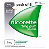 Nicorette Chewing Gum Orginal 2mg Quantity 210 - Pack Of 6