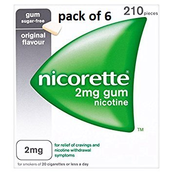 Nicorette Chewing Gum Orginal 2mg Quantity 210 - Pack Of 6 by Nicorette
