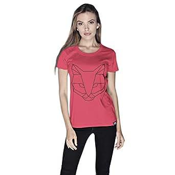Creo Cat Animal T-Shirt For Women - L, Pink