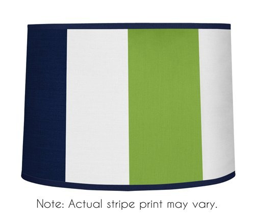 Lime Green Stripe Lamp Shade