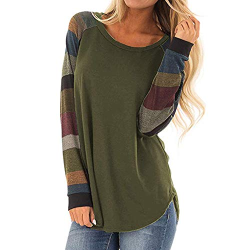 (FORUU Shirts for Womens, Trendy Floral Prined Long Sleeve Casual Blouse Tops Tee)