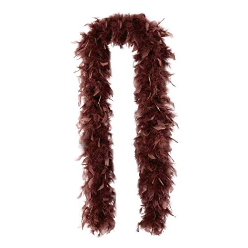 SACASUSA (TM) Fashion 100g Feather Chandelle Boa 6 feet long (7 colors to Pick) (Brown) ()