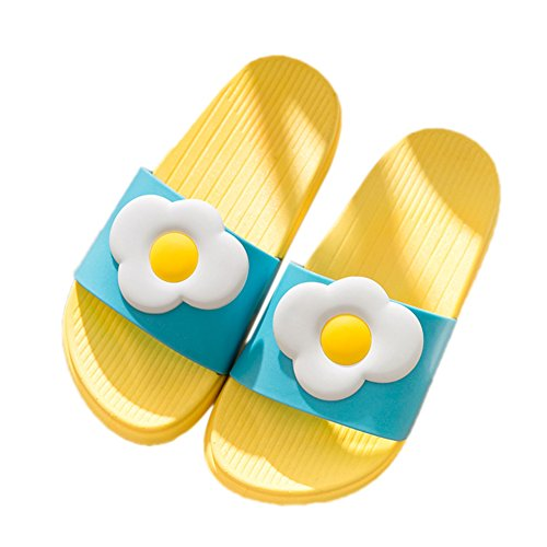 TELLW Bathroom Slippers for Male Female Summer Home Indoor Anti-Slip Thick Bottom Cool Slippers Baby Yellow lXTDJNK
