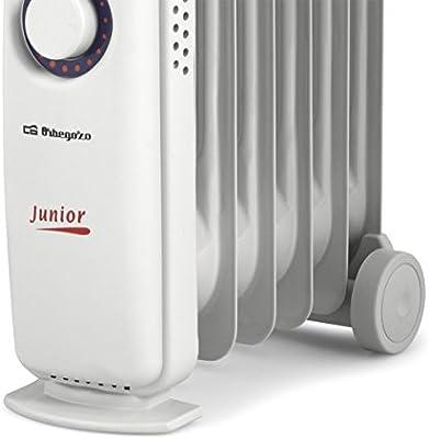 Orbegozo RO-710 C Junior RADIADOR Aceite RO710C 700W 6 Elementos, 700 W, Aluminio, Blanco: Amazon.es: Hogar