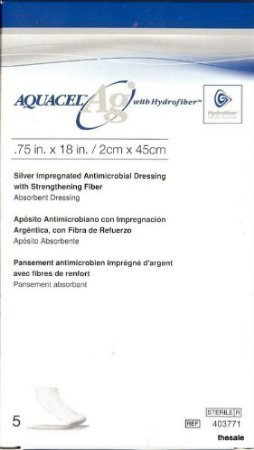 Aquacel Ag Ribbon Dressing With Strengthening Fibr Wound Care