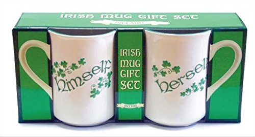 Irish Himself/Herself Shamrock Mug Gift Set (2 Mugs) (Shamrock Coffee)