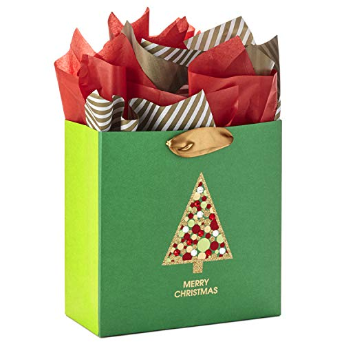 Hallmark Signature Large Christmas Gift Bag with Tissue Paper (Gemstone Christmas Tree)