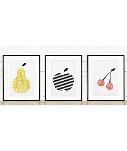 retro apple poster