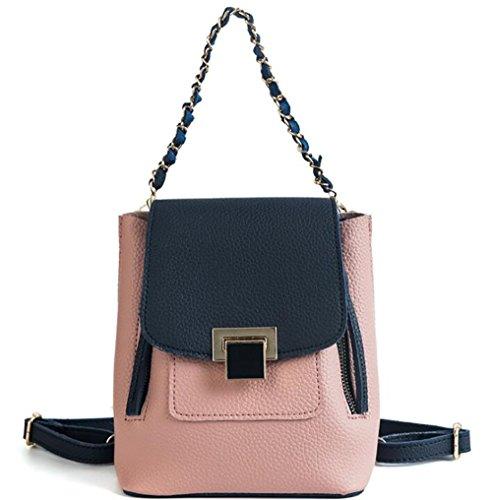 femmes Le sac cuir de dos souple à sac 21cm PU décontracté multifonctionnel en 17 sac main à mode 10 des 44rwqxzEOB