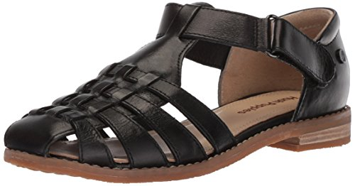(Hush Puppies Women's Chardon Fisherman Sandal, Black, 9.5 M US)