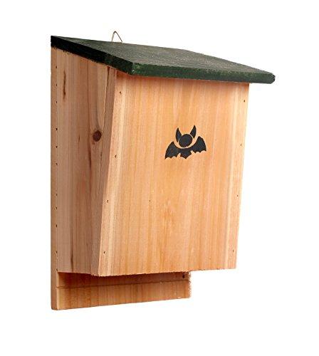 Sparkleberry Industries Bat House - Bat Shelter Pest Control Premium Quality Bat Shelter and Nesting Box - Hand Crafted Bat Home for a Dozen Bats - Amazing Customer Service