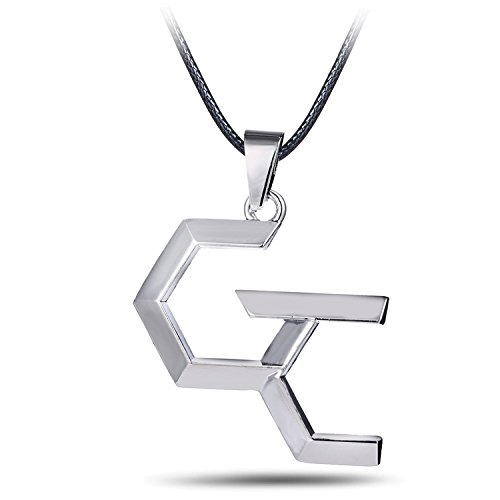usongs Anime Guilty Crown necklace pendant hanging signs surrounding second element silver leather cord necklace pendant jewelry hypoallergenic