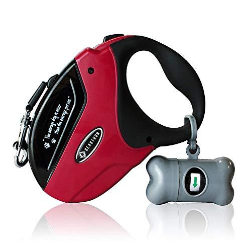 Beastron Heavy Duty Retractable Dog Leash/16′ Extra Long Nylon Ribbon Walking Tangle-Free Leash for Medium to Large Dogs…